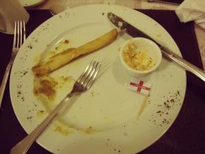 Casi casi pude terminar mi plato esta vez...